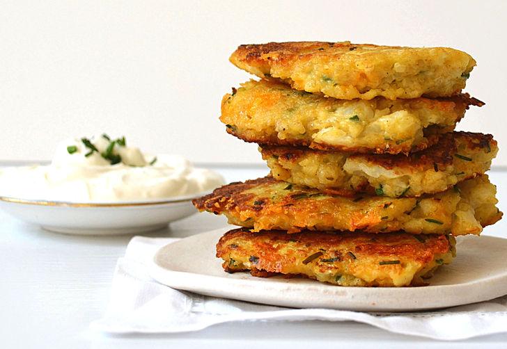 Cauliflower Cheddar Quinoa Fritters