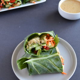 Asian-Style Collard Green & Chickpea Wraps