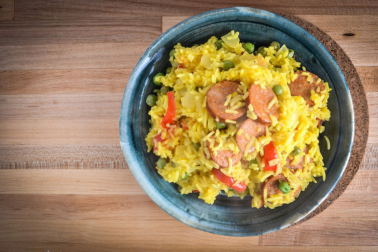Saffron And Paprika Rice With Smoked Andouille Sausage recipe on ...