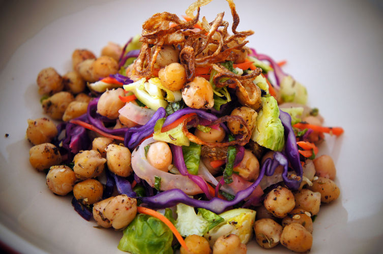 Roasted Chickpea Salad with Za'atar