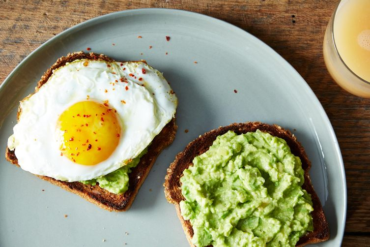 "Moroccan Guacamole"" Toasts with Fried Egg Recipe on Food52"