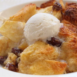 Apple Rum Raisin Bread Pudding
