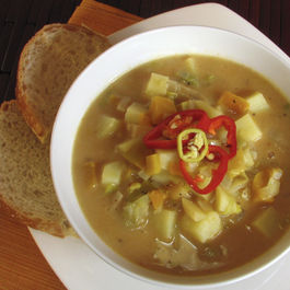 Smoky Leek and Potato Soup