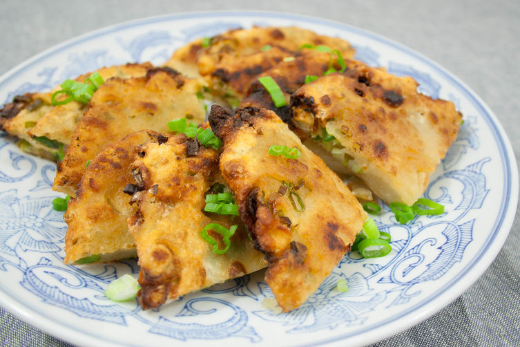 Crispy Chinese Scallion Pancakes