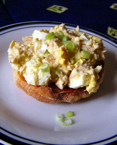 Simple Tuna and Egg Salad Stack