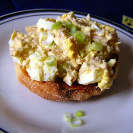 Simple Tuna and Egg Salad Stack