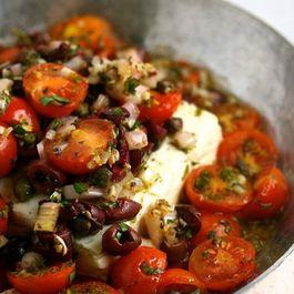 Baked-feta-with-mediterranean-tomato-sauce