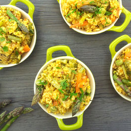 Spring Vegetable Paella [vegan]