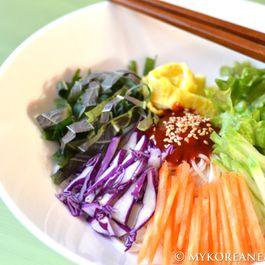Korean Bibim Myun (Spicy Noodles w Vegetables)