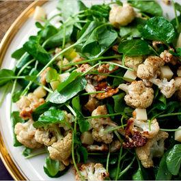 Roasted Cauliflower Salad with Walnuts and Gruyere