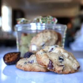 Fig Walnut Dark Chocolate Cookies