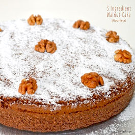 3-Ingredient Walnut Flourless Cake