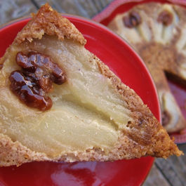 Toasted Walnut Torte with Pear and Orange