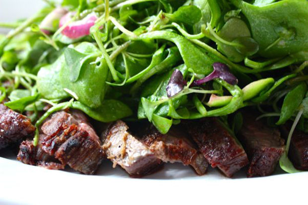 Steak Salad with Micro Greens