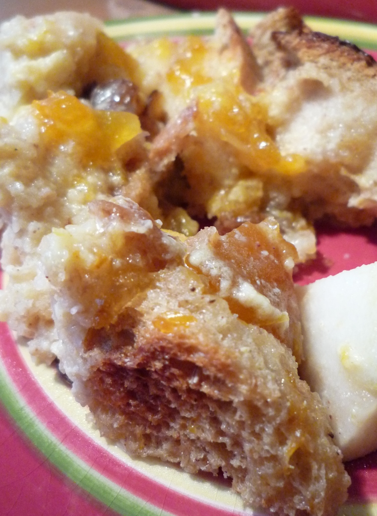 Apricot Jam Bread Pudding