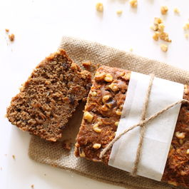 Gluten-Free Walnut Flour Carrot and Raisin Quick Bread