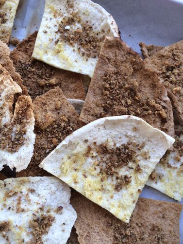 Walnut Dukkah Pita Chips