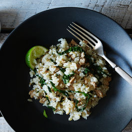 Scallion and Coconut Rice with Pork