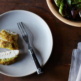 Scallion Pesto-Crusted Chicken