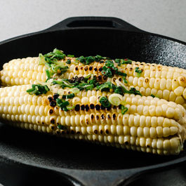 Grilled Corn with Green Onion Oil