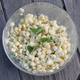 Raw Sweet Corn Tossed with Buttermilk and Herbs