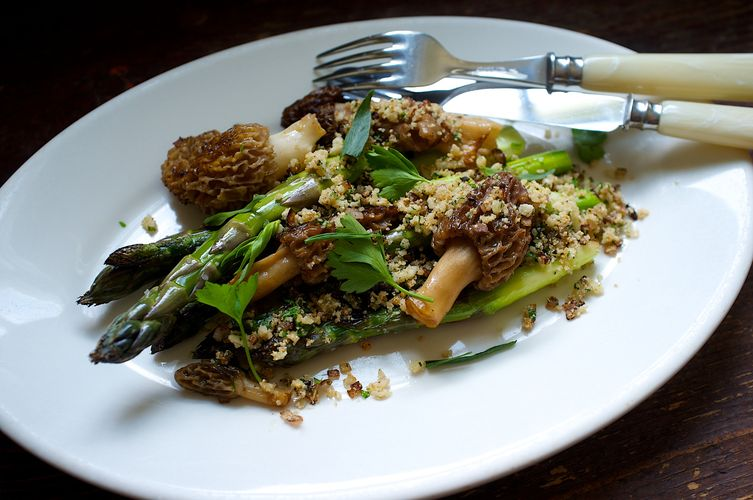 Morels and Asparagus