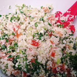 Raw Vegan Cauliflower Tabbouleh