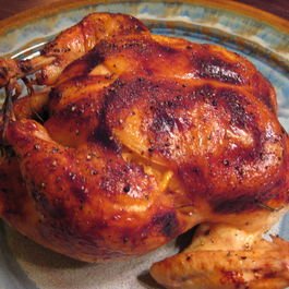 Roasted Chicken with Honey, Lemon and Rosemary