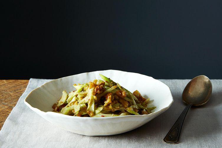 Slivered Celery and Walnut Salad