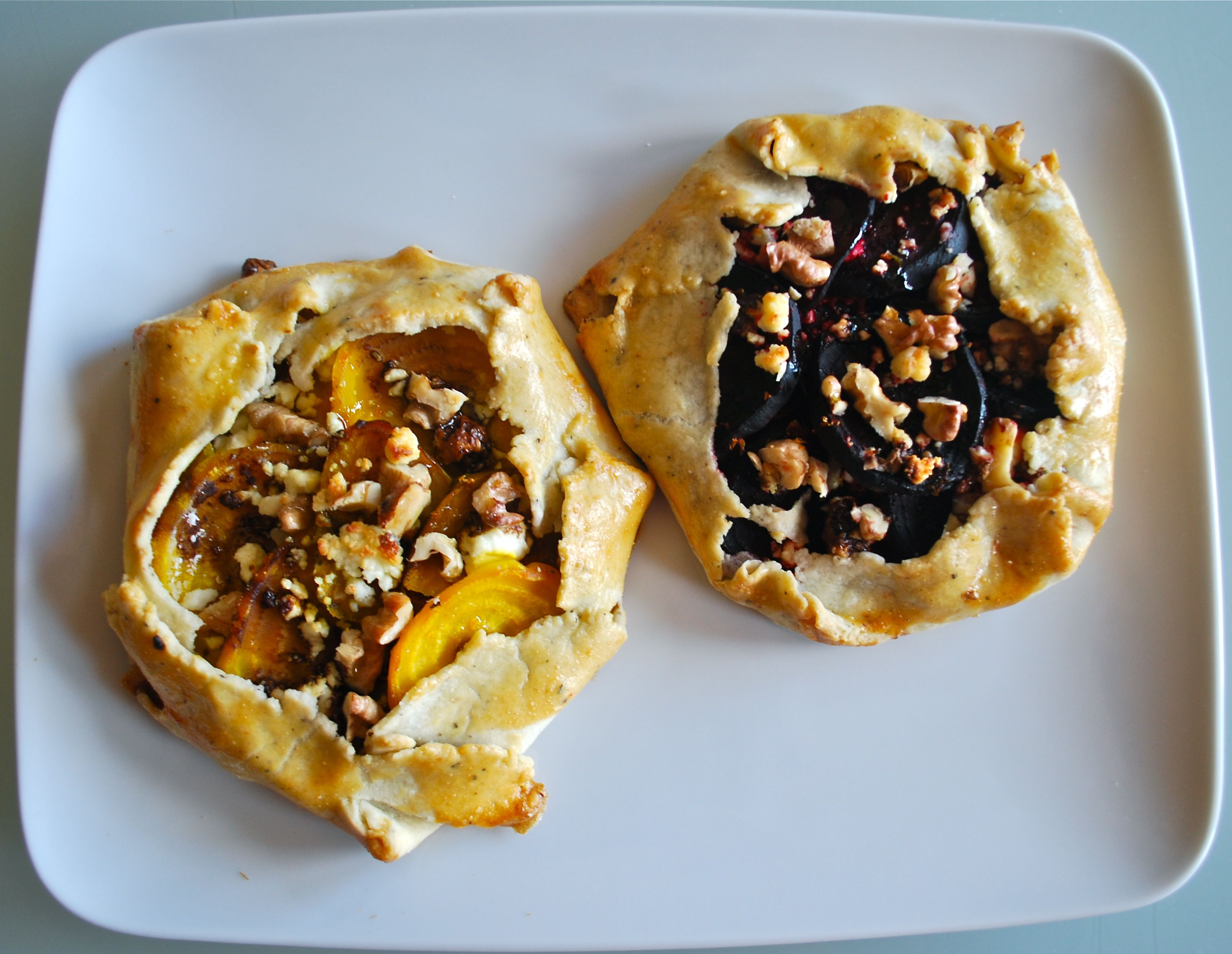 Beet Crostata with a Pepper-Parmesan Crust