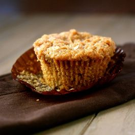 Peach Brown Betty Muffins