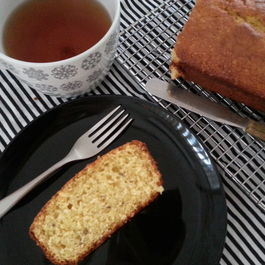 Blood Orange and Lavender Yogurt Loaf Cake