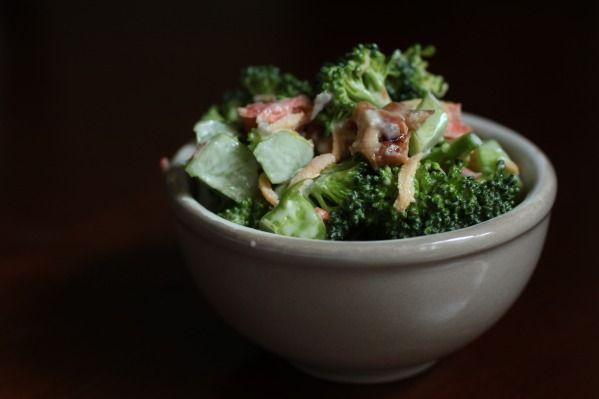 my husband's broccoli nut salad