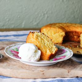 Pink Grapefruit and Rosemary Cornmeal Cake