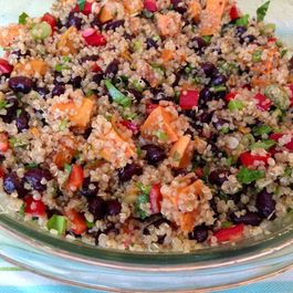 Sweet Potato and Black Bean Quinoa Salad
