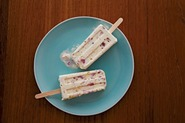 Strawberry Shortcake Ice Cream Pops