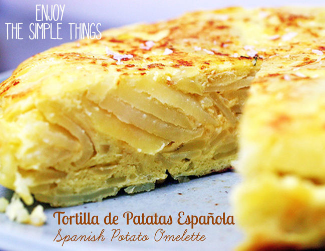 Enjoy the Simple Things - Tortilla de Patatas Española (Spanish Potato Omelette)