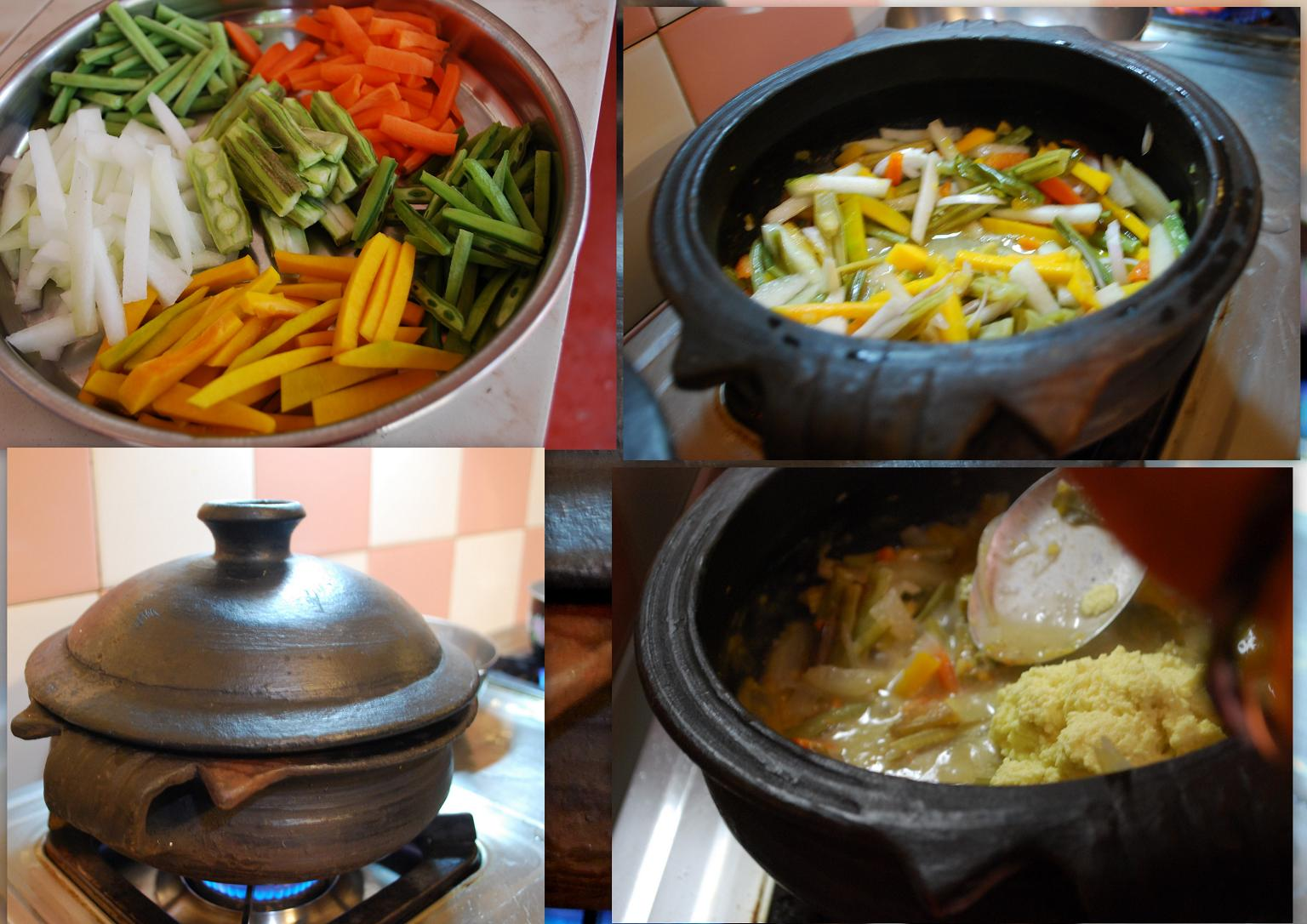 Aviyal  ( One of the most healthiest vegetable preparation.)