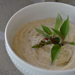 Cannellini_bean_dip_with_pineapple_sage