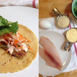 Cornmeal Crusted Banh Mi Fish Tacos