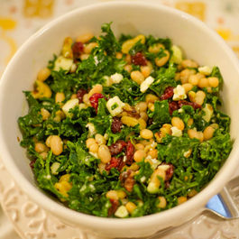 White Bean Feta Kale Salad