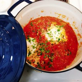 Eggs Poached in Spicy Tomato Sauce (Shakshouka)