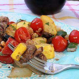 Grilled Squash Panzanella
