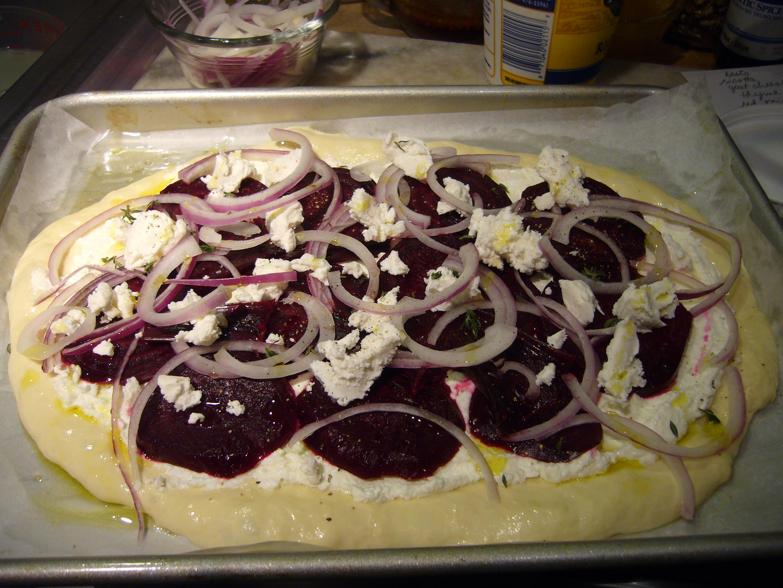 Beet Pizza