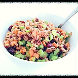 Crunchy Kamut Salad with Dried Cranberries