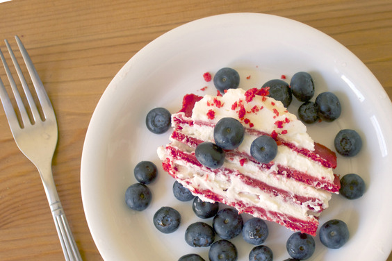 Red Velvet Icebox Cake