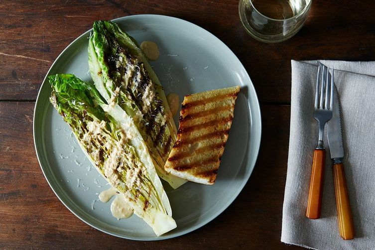 Fully Grilled Caesar Salad