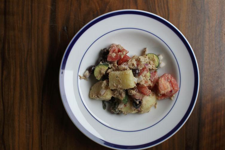 Provençal Potato Salad with Tuna Dressing