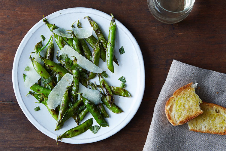 Grilled English Peas on Food52