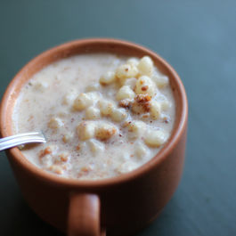 Brazilian white corn porridge